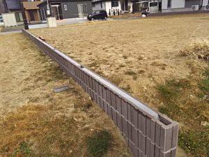 フェンス取り付け施工前