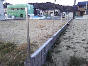 フェンス柱立て終了