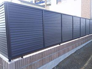 LIXILプレスタ8型フェンス施工例