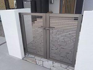 プレスタ門扉1型両開き施工例1