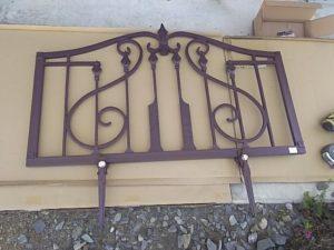 アルミ鋳物フェンスの組み立て完了