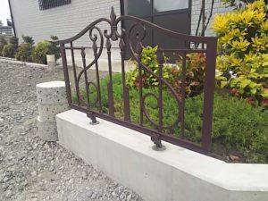 アルミ鋳物フェンス完成