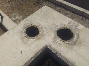 ボイド管の入っているコンクリート基礎