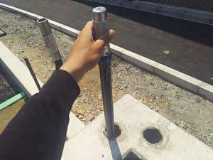 ボイド管ラチェットをセットする