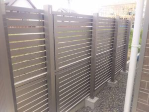 2段フェンスプレスタ7Y型施工例2