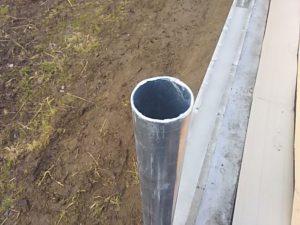 支柱、上からみたところ