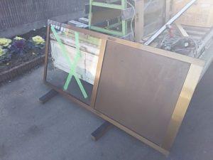 引き戸のガラス修理前