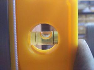 ダイソーの水平器の垂直反転