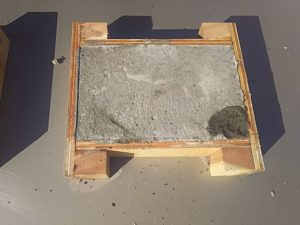 防凍剤有りのモルタル