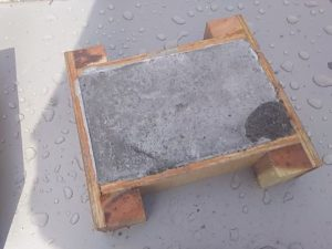 防凍材有りのモルタルの様子